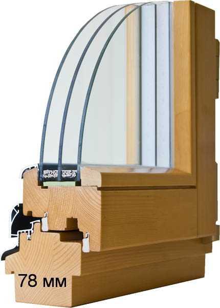 Деревяные окна эконом