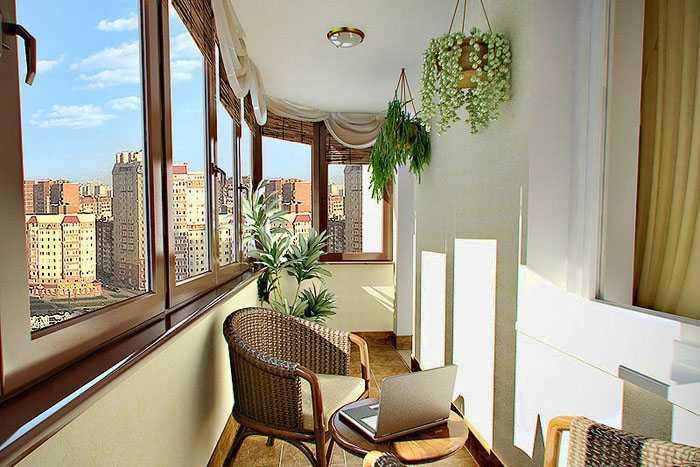 Деревянное остекление балкона от Krauts