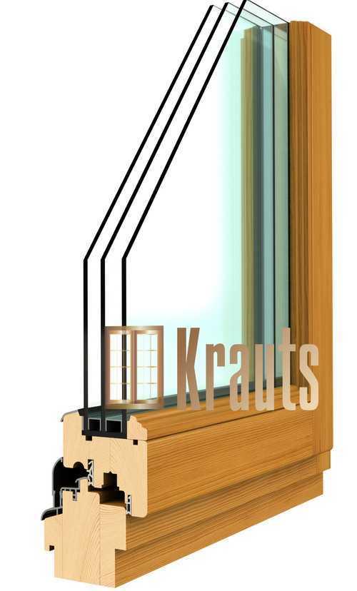 Деревянное окно Модерн от производителя Краутс