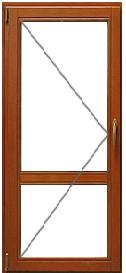 Цена на деревянное окно 750мм на 2100мм Krauts