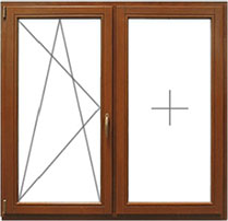 Цена на деревянное двустворчатое окно