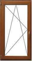 Цена на деревянное окно со стеклопакетом одностворчатое