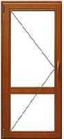 Цена на деревянное окно со стеклопакетом одностворчатое разделенное
