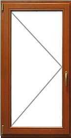 деревянные стеклопакеты - одна рама