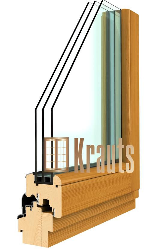 Деревянное евро окно Софтлайн