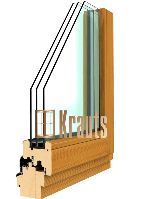 Вид деревянного евроокна классик