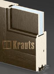 Входная деревянная дверь оптима с полистиролом