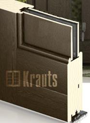 Входная деревянная дверь оптима со стеклпакетом