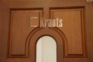 Входная бюджетная деревянная дверь