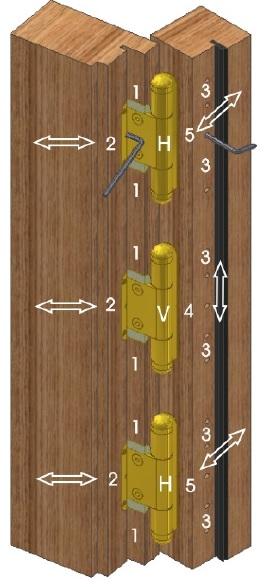 Петли у входных деревянных дверей