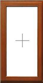 Глухое деревянное евроокно, цена от 15 000 руб. за кв.м.