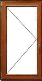 Поворотное деревянное евроокно, цена от 19 200 руб. за кв.м.